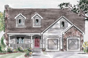 House Plan Design - Farmhouse Exterior - Front Elevation Plan #20-1237