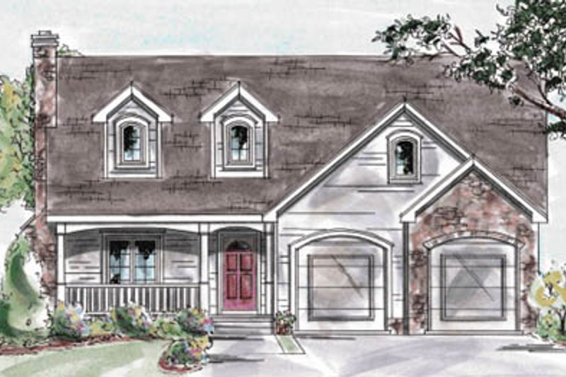 Home Plan Design - Farmhouse Exterior - Front Elevation Plan #20-1237