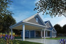House Plan Design - Country Exterior - Rear Elevation Plan #17-2741