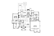 Craftsman Floor Plan - Main Floor Plan Plan #929-1080
