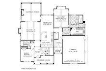 Farmhouse Floor Plan - Main Floor Plan Plan #927-981