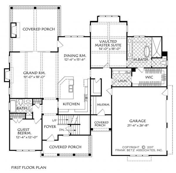 Home Plan - Farmhouse Floor Plan - Main Floor Plan #927-981