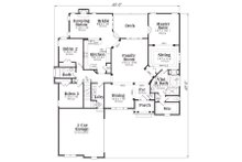 European Floor Plan - Main Floor Plan Plan #419-166