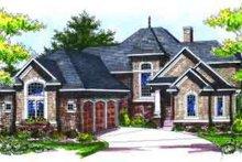 Dream House Plan - European Exterior - Front Elevation Plan #70-736