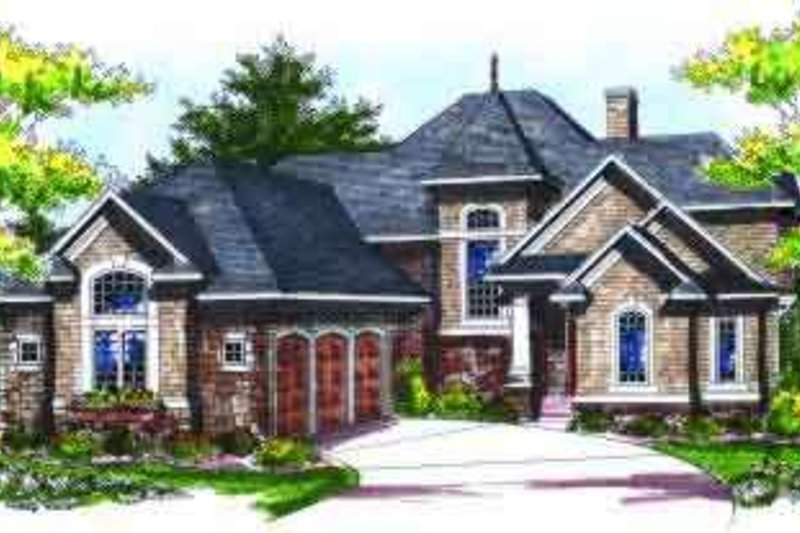 European Exterior - Front Elevation Plan #70-736 - Houseplans.com