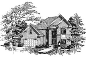 Traditional Exterior - Front Elevation Plan #70-415