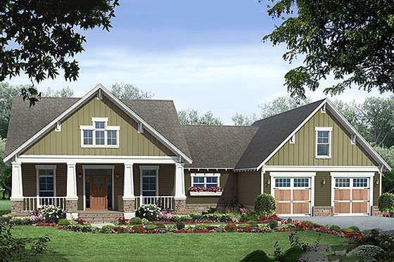Craftsman style Plan 21-248 front elevation