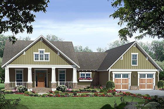 Craftsman style Plan 21-248 front elevation