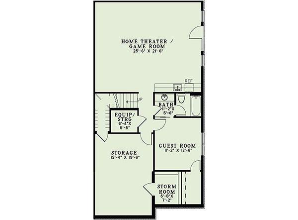 European Floor Plan - Lower Floor Plan Plan #17-2439