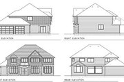 Craftsman Style House Plan - 4 Beds 3 Baths 3369 Sq/Ft Plan #100-211 Exterior - Rear Elevation