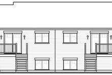 House Plan Design - European Exterior - Rear Elevation Plan #23-775