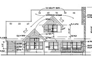 Southern Style House Plan - 3 Beds 3 Baths 1753 Sq/Ft Plan #120-157 Exterior - Rear Elevation