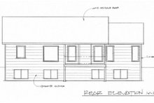 Home Plan - Traditional Exterior - Rear Elevation Plan #58-173