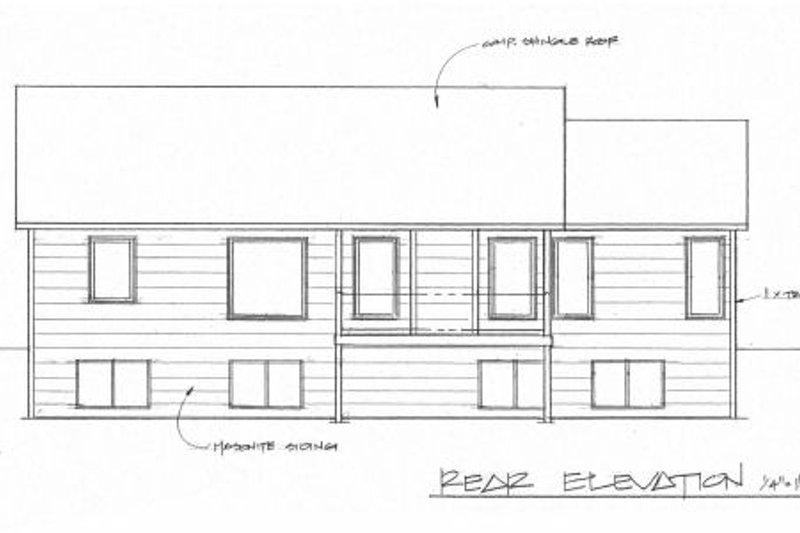 Traditional Exterior - Rear Elevation Plan #58-173 - Houseplans.com