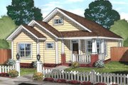 Craftsman Style House Plan - 3 Beds 2 Baths 1381 Sq/Ft Plan #513-2074 Exterior - Front Elevation