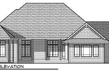 Craftsman Exterior - Rear Elevation Plan #70-871