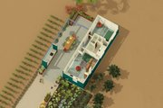 Contemporary Style House Plan - 1 Beds 2 Baths 584 Sq/Ft Plan #917-5 Exterior - Other Elevation
