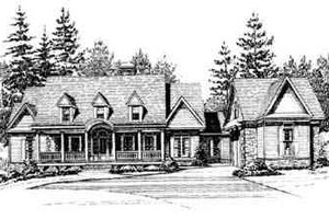 Country Exterior - Front Elevation Plan #71-123