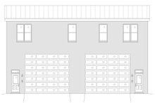 House Plan Design - Contemporary Exterior - Rear Elevation Plan #932-51