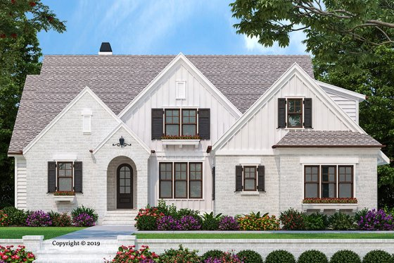 Architectural House Design - Farmhouse Exterior - Front Elevation Plan #927-1001