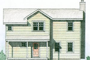 Farmhouse Exterior - Front Elevation Plan #510-3
