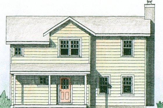 Farmhouse Exterior - Front Elevation Plan #510-3