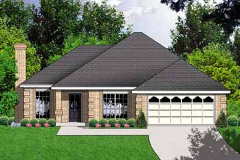 Traditional Exterior - Front Elevation Plan #40-186 - Houseplans.com