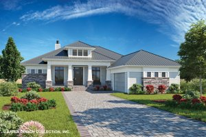 Craftsman Exterior - Front Elevation Plan #930-499