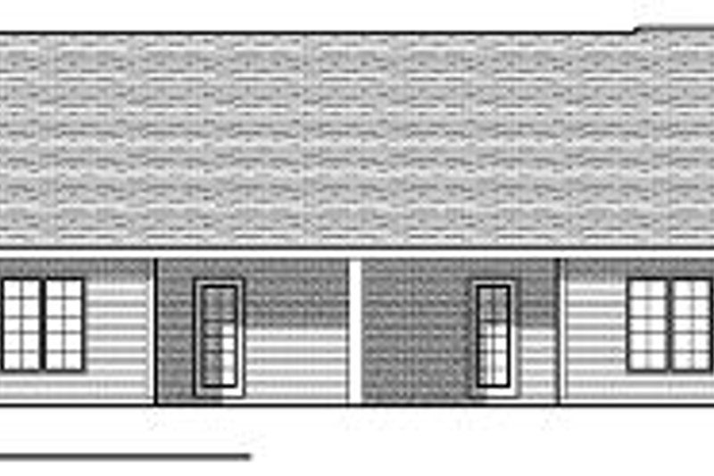 Traditional Exterior - Rear Elevation Plan #70-891 - Houseplans.com