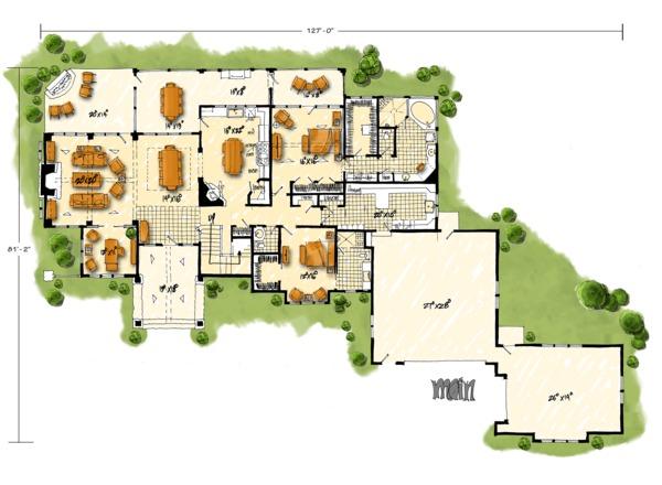 House Plan Design - European Floor Plan - Main Floor Plan #942-38