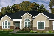 Traditional Style House Plan - 4 Beds 2.5 Baths 2275 Sq/Ft Plan #63-178 Exterior - Front Elevation