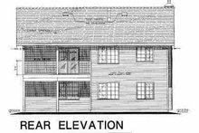 Home Plan Design - European Exterior - Rear Elevation Plan #18-227