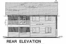 House Blueprint - European Exterior - Rear Elevation Plan #18-227