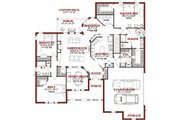 Traditional Style House Plan - 4 Beds 3 Baths 3994 Sq/Ft Plan #63-194 Floor Plan - Main Floor