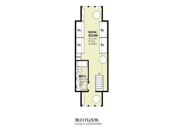 Beach Floor Plan - Other Floor Plan Plan #901-125