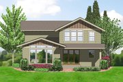 Craftsman Style House Plan - 3 Beds 2.5 Baths 2002 Sq/Ft Plan #48-523 Exterior - Rear Elevation