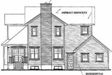 Farmhouse Exterior - Rear Elevation Plan #23-2062