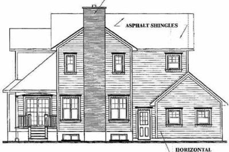 Farmhouse Exterior - Rear Elevation Plan #23-2062 - Houseplans.com