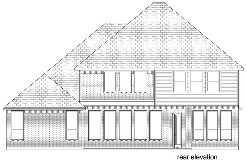 Mediterranean Exterior - Rear Elevation Plan #84-620 - Houseplans.com