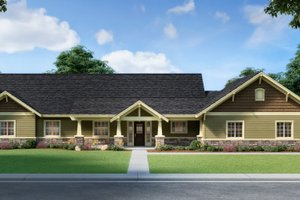 Craftsman Exterior - Front Elevation Plan #112-168