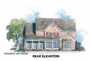Country Style House Plan - 3 Beds 2.5 Baths 2482 Sq/Ft Plan #429-34 Exterior - Rear Elevation