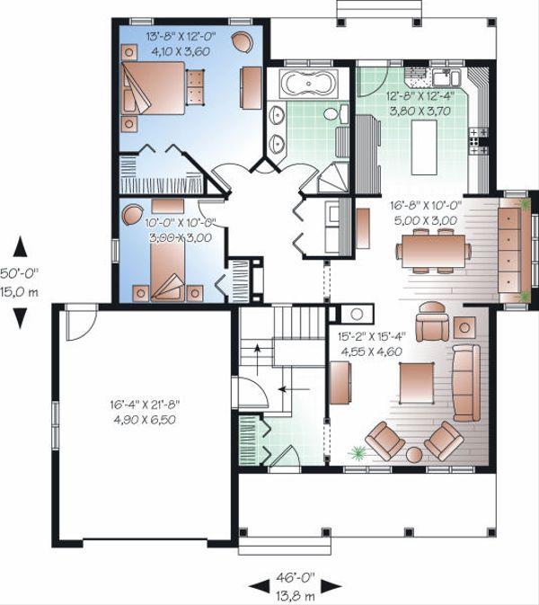Traditional Floor Plan - Main Floor Plan Plan #23-794