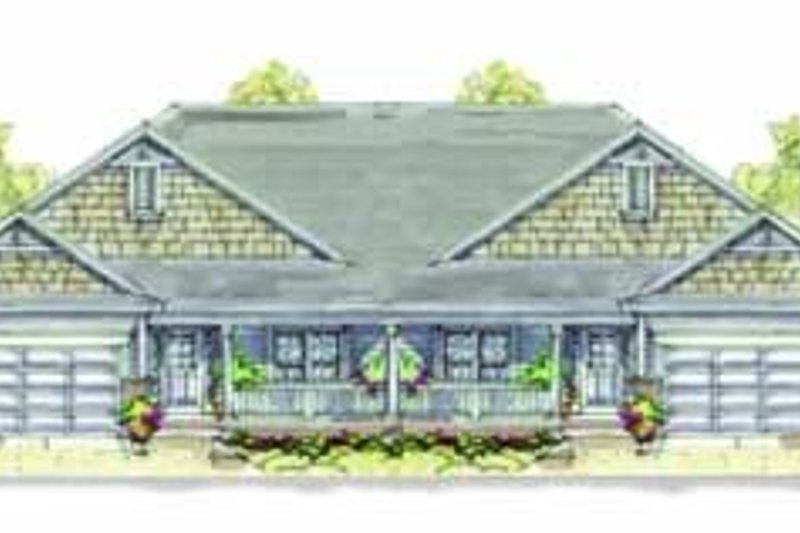 Bungalow Style House Plan - 3 Beds 2 Baths 2390 Sq/Ft Plan #20-1340 Exterior - Front Elevation