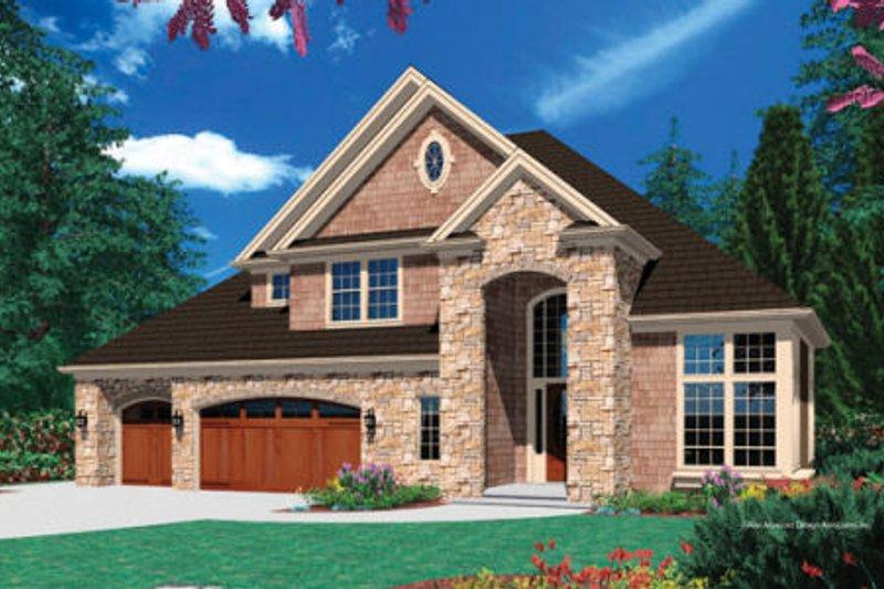 Dream House Plan - European Exterior - Front Elevation Plan #48-386