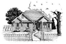 Traditional Exterior - Front Elevation Plan #20-533