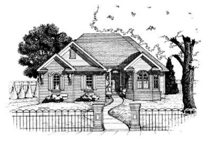 Traditional Exterior - Front Elevation Plan #20-533 - Houseplans.com