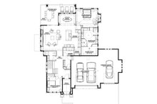 Ranch Floor Plan - Main Floor Plan Plan #1069-5
