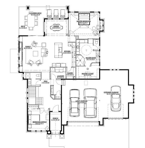 Ranch Floor Plan - Main Floor Plan #1069-5