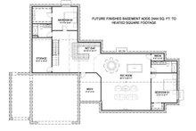 Farmhouse Floor Plan - Lower Floor Plan Plan #1069-19