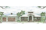 Beach Style House Plan - 3 Beds 3.5 Baths 1997 Sq/Ft Plan #426-15 Exterior - Front Elevation